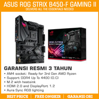 ASUS ROG STRIX B450-F GAMING II AM4 DDR4 MOTHERBOARD MAINBOARD AMD