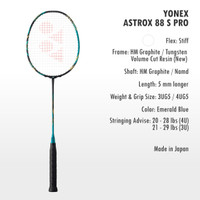 NEW YONEX ASTROX 88S PRO 88 S PRO RAKET BADMINTON ORIGINAL