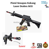 Mainan Anak Pistol Pistolan Senapan Kokang Laser Dcobra-M15