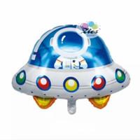 balon foil pesawat luar angkasa / balon pesawat astronout / balon UFO