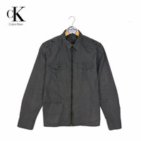 jaket casual pria CALVIN KLEIN bajubatasan shirt second original murah