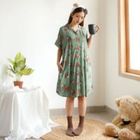 Daster Baju Tidur Wanita Cewek Midi Kancing Piyama Pajamas Dress Vol.2