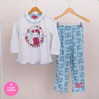 Baju Tidur Anak Perempuan / Piyama Anak Cewek Hello Kitty - Pjg Pjg