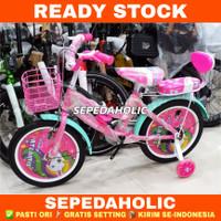 Sepeda Anak Perempuan ATLANTIS KUDA PONI LITTLE PONY 12 16 18 Inch