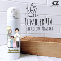 CUSTOM TUMBLER H777 EDISI IDUL FITRI 1442 H UV PRINT FULL COLOUR