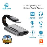 Mcdodo Splitter Iphone Lightning to DC 3.5mm Audio Jack Splitter Audio