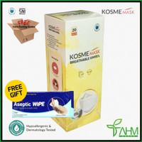MASKER KM95 KOSMEMASK BREATHABLEMASK NANO SILVER - KOSME MASK(1Box)