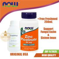 NOW Zinc Picolinate 50mg 120 Vegan Capsules