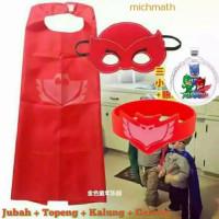 Jubah Topeng Kalung Gelang PJ Maskers owlettedkk catboydkk pj masksaja