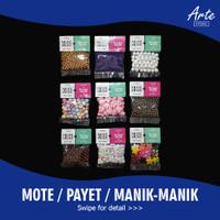 Mote Payet Manik-Manik Pasir Mutiara Susu (Semua Varian)