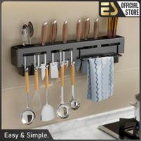 ES Rak Dapur Gantung Serbaguna Rak Peralatan Masak Rak dinding Dapur