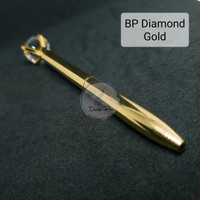 Pen Gold Diamond, Bolpen Metal Emas, Ballpoint Unik, Ballpen Cantik