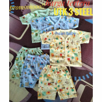 3 setel(6 pcs)setelan baju bayi full motif