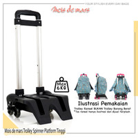 Additional Trolley Spinner - Multifungsi - Troli sekolah roda 3