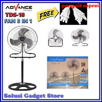 Advance TDS-18 Kipas Angin Besi 18 inch Stand Fan Multifungsi 3 in 1