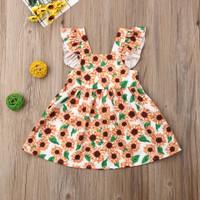 Dress bunga matahari import anak 3 th baju santai casual sunflower pan