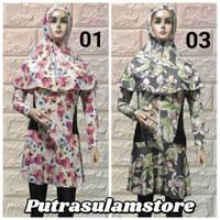 Baju renang muslim dewasa corak syar'i - CORAK 01, XL