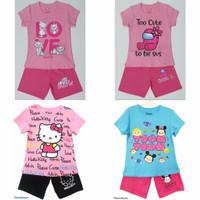 Setelan kaos baju anak perempuan size 1 2 3 4 5 6 7 8 9 10 tahun #2245