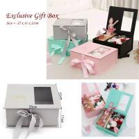 Exclusive Gift Box - Hard Box - Kotak Kado Mewah - Kotak Kerajinan - Abu-abu