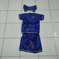 Kostum adat anak perempuan TK /kostum karnaval anak /adat lampung