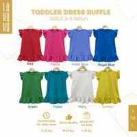 Dress Ruffle anak perempuan 2-5 tahun Setelan Pakaian Baju Rok Polos