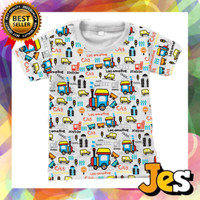 Baju Atasan / kaos anak laki-laki Locomotive usia 1-10 Tahun - 1 thn