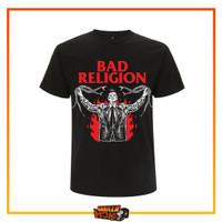 Baju Kaos Band Original BAD RELIGION Impor PHD Official Snake Preacher - S