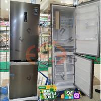 Aqua Aqr 363 Rbm Kulkas Bottom Freezer 381L Inverter - Aqr363Rbm