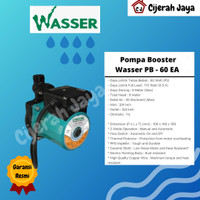 Pompa Booster Wasser PB 60 EA / Pompa Pendorong Water Heater 1 Titik