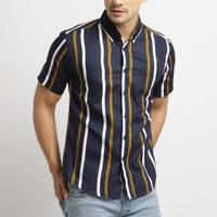 VENGOZ Kemeja Printing Pria - Ghaza Stripe Shirt