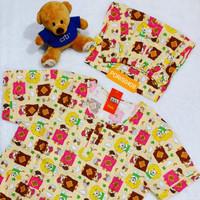 Baju Tidur HOKI XXL Jumbo Katun wanita celana 3/4 (sleep bear)