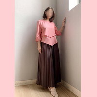 Baju atasan perempuan / Baju atasan wanita / blouse wanita - pink, M