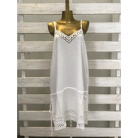 Baju dress wanita pendek tanpa lengan bordir bali