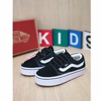sepatu anak vans kids laki Sk8 Hi Classic Black White Grade Original
