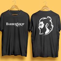 Kaos T-shirt Barber Shop Baju Hipster Beard Man Depan Belakang Unisex
