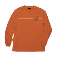 T-shirt Long sleeve Santa Cruz Original Dot Orange / Baju Santacruz