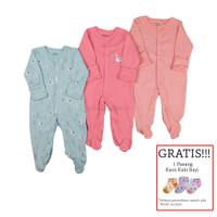 Baju Tidur Bayi Sleepsuit 3 in 1 Mamas Papas Premium Motif Swan - 0-3 Bulan