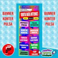 Spanduk, Banner, Backdrop Usaha konter pulsa uk. 60 x 160 cm