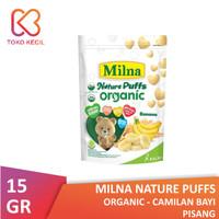 Milna Nature Puffs Organic Pisang 15 gr - Camilan Bayi