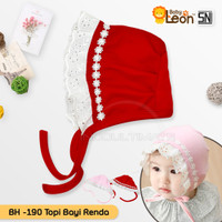 Topi Bayi perempuan lucu BH-190 / pita baju kaos bando kepala bayi