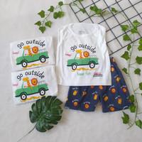 Setelan Baju Kutung Anak Laki Laki 1Tahun 3-18Bulan Jerapah Premium