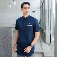 Baju Koko Kurta Pria Muslim Lengan Pendek Matt Katun Adem