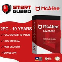 Antivirus Mcafee LiveSafe 2 PC - 10 TAHUN