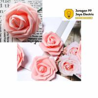 Bunga mawar foam Peach / mawar spon untuk backdrop