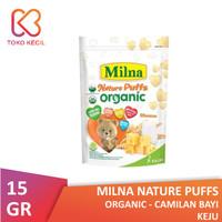 Milna Nature Puffs Organic Keju 15 gr - Camilan Bayi