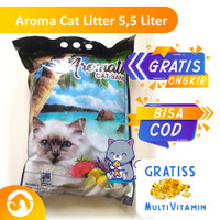 pasir kucing cat litter aromatic 5.5 ltr