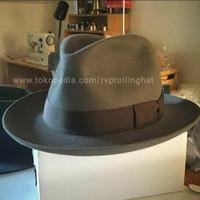 Topi pria model fedora bahan wool original topi pria keren