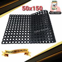 Keset Karpet Karet Anti Slip Kamar Mandi / Karet lobang lobang 50x150