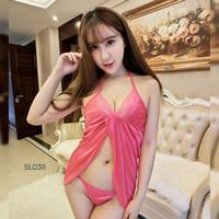 Sexy Lingerie Woman Babydoll Dress Sleepwear Baju Tdr Lace Seksi SL03B