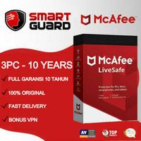 Antivirus Mcafee LiveSafe 3 PC - 10 TAHUN